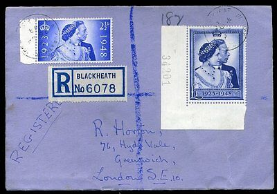 1948 King George VI Silver Wedding First Day Cover 26th AP £1 / 2½d