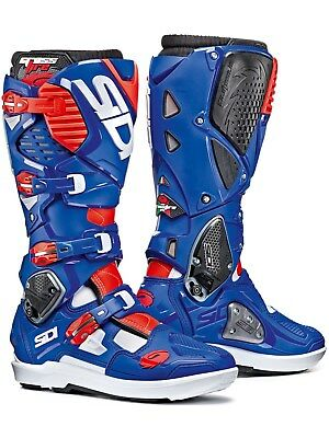 Sidi White-Blue-Red Crossfire 3 SRS MX Boot