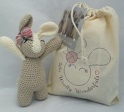 Crochet Kit - Rosie Bunny Rabbit Luxury Crochet Kit Learn to Crochet beginners