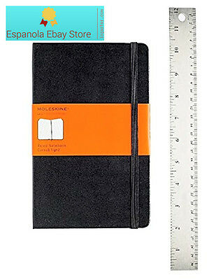 Moleskine Classic Notebook, Large, Ruled, Black, Hard Cover (5 x 8.25) (Classic
