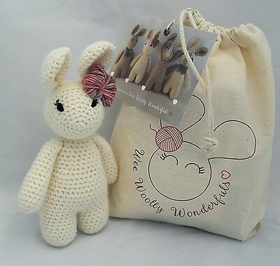 Crochet Kit - Betsy Bunny Rabbit Luxury Kit - Learn to crochet beginners