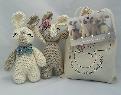 Crochet Kit - Reggie & Rosie Twin Bunny Luxury Kit Learn to crochet beginners