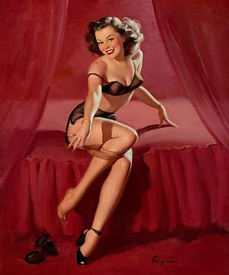 /'HIGH AND SHY/' 1950 ELVGREN VINTAGE STYLE PINUP GIRL SWIMMING POSTER PRINT 50x42