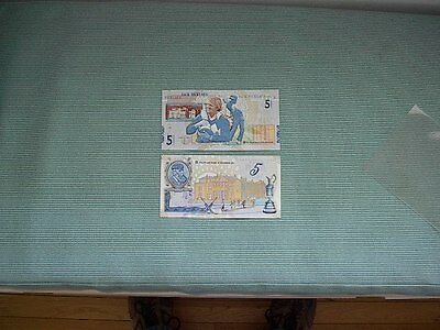 2  RBS  5 pound notes, Jack Nicklaus and Tom Morris UNC
