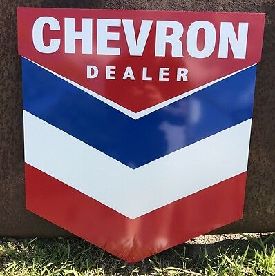 Antique Vintage Old Style Chevron Gas And Motor Oil Sign! FREE SHIPPING