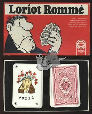 Loriot Bridge Canasta Poker Romme ASS Spielkarten Cartoon Comic