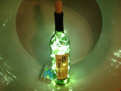 Handmade Blackstone Wine Bottle Light-Lighted Wine Bottle-WINE BOTTLE LIGHT