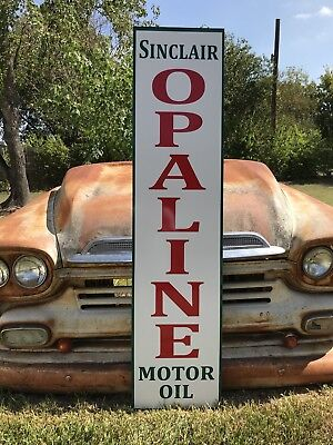 "Antique Vintage Old Style Sinclair Opaline Motor Oil Sign 60""!"