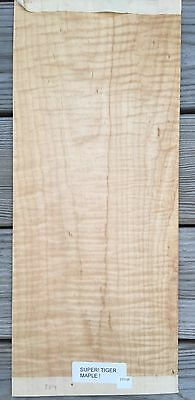"Curly Maple raw wood veneer, 8"" x 19"" Thickness = Approx 1/42"""