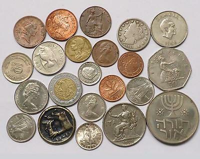 Foreign World Coins With Silver,  Lot Of 22
