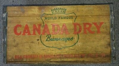 VINTAGE Canada Dry Ginger Ale Wooden Crate Soda Bottle B8A FC-2-51 1951?