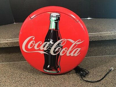 1995 Coca-Cola Coke Red Blinking Round Disc Telephone Phone Landline