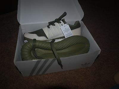 Adidas Mens Radial Tubular Running Shoes-Size 8 1/2M Green/White-New In Box