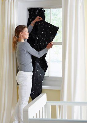 Anywhere Blackout Blind Window Sun Protection Curtain Baby Nursery Kids Bedroom