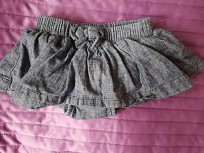 next baby girl skirt with pants, size 0-3 months