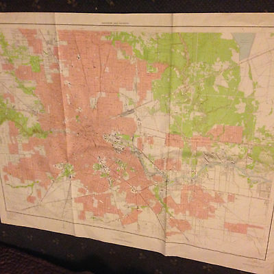 Large Houston & Vicinity, Texas, Geological Survey Map