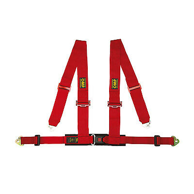 Genuine OMP Racing 4 - points Safety Belts Red ECE, DA508