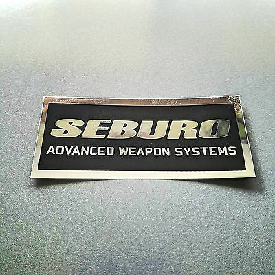 "5 pack of Seburo stickers - 3.5""x1.5"" -  inspired by ghost in the shell"