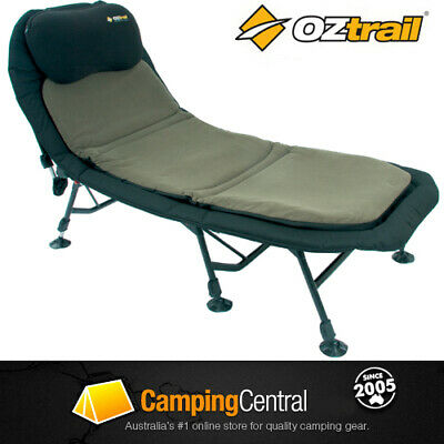 Oztrail Luxury Cushion Stretcher Bed Chair Padded Camping Camp Fbs-Slc-B