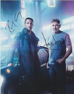 Ryan Gosling Harrison Ford Blade Runner 2049 EXTREMELY RARE DUEL-SIGNED RP 8x10