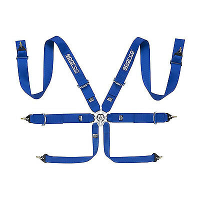 Genuine Sparco 6 - point Safety Belts, Roll Cage fixing blue