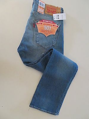 Levi's 501 Stretch Straight Leg Button-Fly Jeans  Size 31 x 30 #005012333(A)