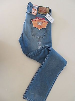 Levi's 501 Stretch Straight Leg Button-Fly Jeans  005012333 Size 32 X 36