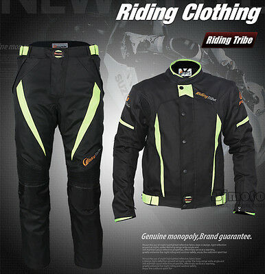 Riding Tribe Men Racing Jacket Pants Suits Motorcycle Motorbike Protective Pads