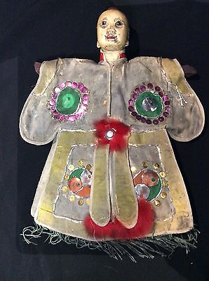 Vintage Asian Chinese Hand Puppet Handmade Decorated