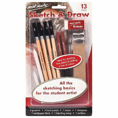 Mont Marte Sketch & Draw Beginners 13pce Quality - Free Delivery