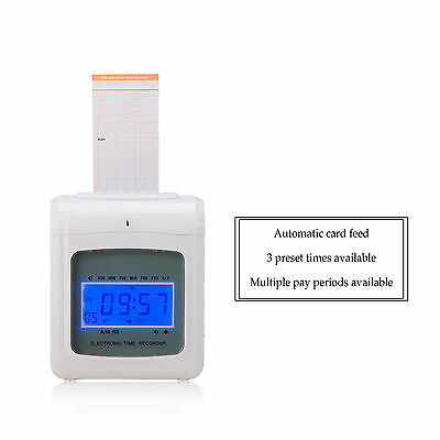 Electronic Employee Time Recorder Time Clock Punch for Small Business Offices