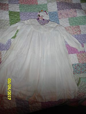 Antique Victorian Infant  Gown Lace at bottom of sleeves  #1