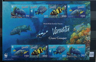 S0 0229 WWF Animals Vanuatu MNH 2006 Fish Giant Grouper