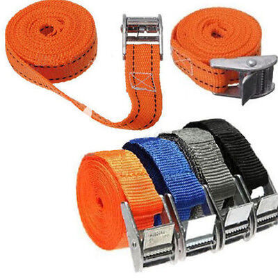 Strong Belt Ratchet Tie Down Straps Luggage Bag Fasteners Truck Cargo Lashing US