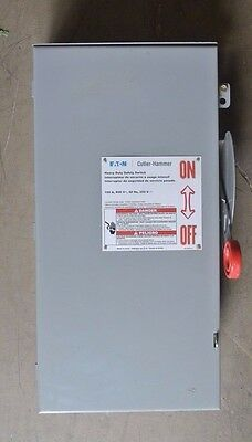 DH363FRK Eaton Cutler Hammer 100 amp 600 volt Fusible 3R outdoor Disconnect