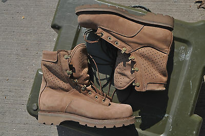 Canadian Forces Gore-Tex Lined Hot Weather Brown Suede Combat Boots 10 W 270/106