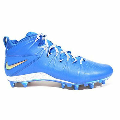 NEW! $90 Nike Huarache 4 LAX Lacrosse/Football Cleats LE Blue & White Size 12