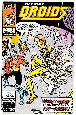 DROIDS #3 (FN+) C3PO R2D2 Star Wars Copper-Age Comic 1986 Marvel