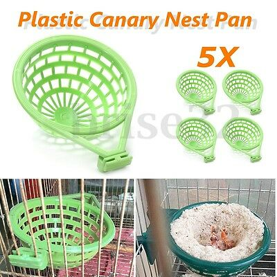 5 x 14cm Plastic Canary Nest Liner Pan for Nesting Canaries Finches Budgies