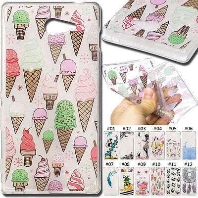 For Sony Xperia M2 Cute TPU IMD Skin Silicone Various Soft Clear Case Back Cover