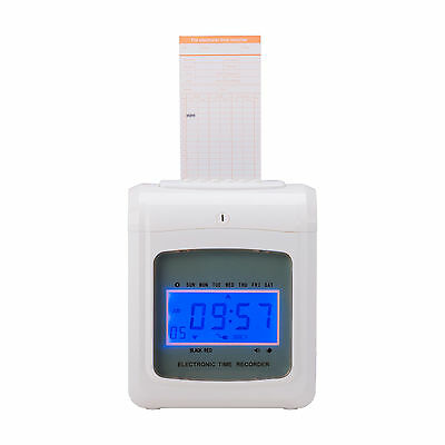 New Payroll Attendance Time Clock Punch Machine w/50 Cards
