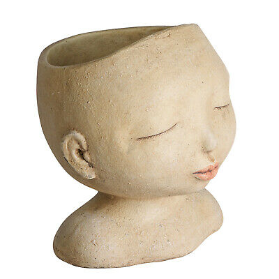 Head of a Lady Indoor/Outdoor Resin Planter - Fun Novelty Flower Pot