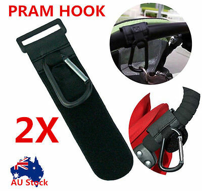 2 x PRAM HOOK Baby Stroller Hooks Shopping Bag Clip Cup Holder Bonds Wondersuit