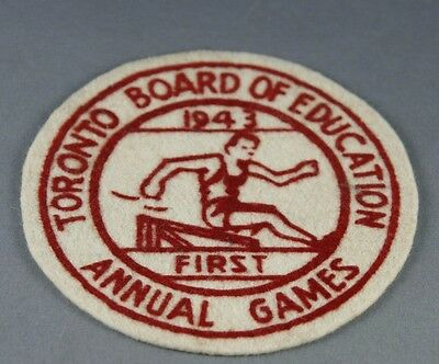 Vintage Badge Toronto Board of Education Annual Games 1943 First