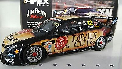 1:18 2012 Dean Fiore Jim Beam Racing Ford FG Falcon DJR #12 Devils Cut.  RARE