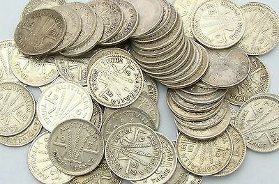 Post-1946 Australian Threepence Collection, Bulk Lot, 3d, Silver Coins, Set x 10