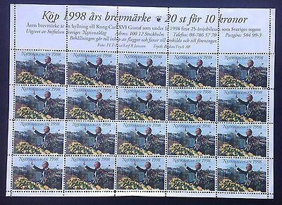 Sweden Cinderella Sheet National Day 1998