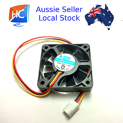 Case Fan 12V 50mm x 50mm x 10mm Brushless PC Fan brushless 3 pin Aussie Seller