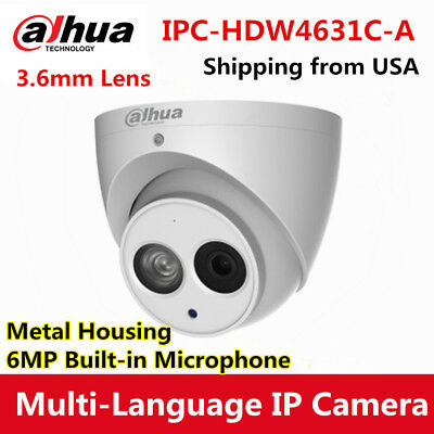 Dahua 6MP Dome IPC-HDW4631C-A Turret IP Camera Metal Mic Update 4433C-A 2.8MM