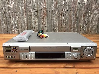 Serviced Sony SLV-EZ70 Stereo Video Recorder Player + REMOTE VHS Player VCR